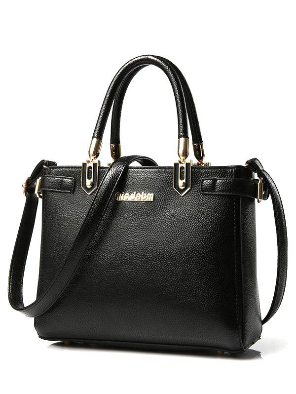 Charming Letter and Solid Color Design Women's Tote Bag - BLACK