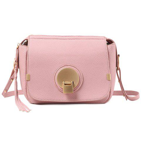 Sweet Hasp and PU Leather Design Women's Shoulder Bag - PINK