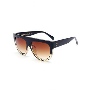 Stylish Leopard Pattern Match Black Sunglasses