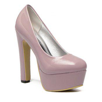 Fashionable Round Toe and Platform Design Women's Pumps