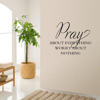 Fashionable Waterproof DIY Bible Pray Proverbs Pattern Wall Sticker