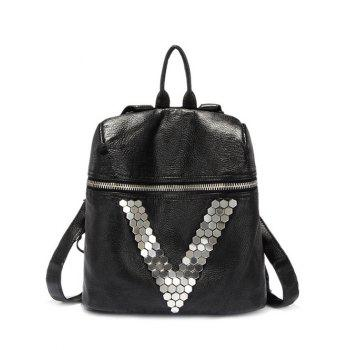 LeisureMetal and Black Design Women's Backpack