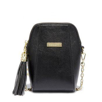 Trendy Tassel and PU Leather Design Women's Crossbody Bag