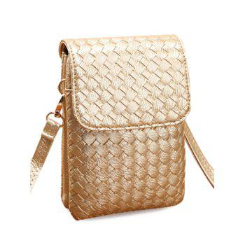 Concise Weaving and Cover Design Women's Crossbody Bag