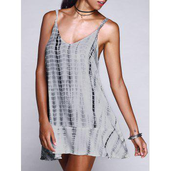 Chic Spaghetti Strap Asymmetric Frayed Backless Dress For Women