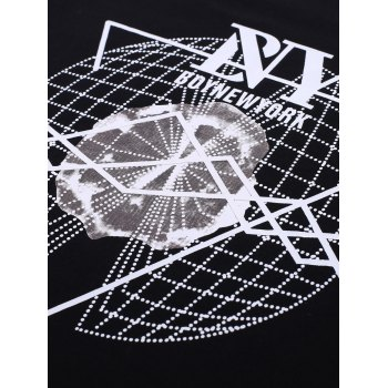 BoyNewYork 3D Geometric Pattern T-Shirt - BLACK M