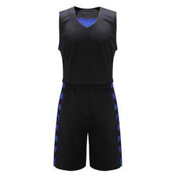 Geometric Print V-Neck Sleeveless Sport Suit ( Tank Top + Shorts )