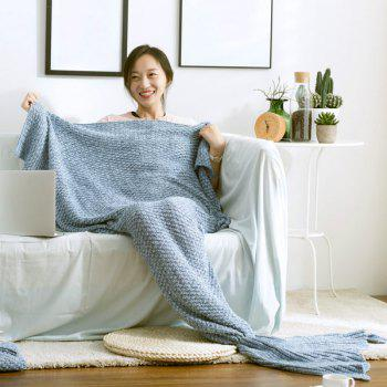 Hot Sale Soft Knitted Mermaid Tail Blanket