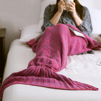 High Quality Yarn Knitted Mermaid Tail Blanket