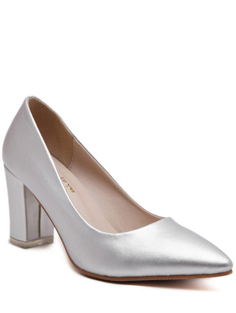 Elegant Pointed Toe and Solid Color Design Women's Pumps