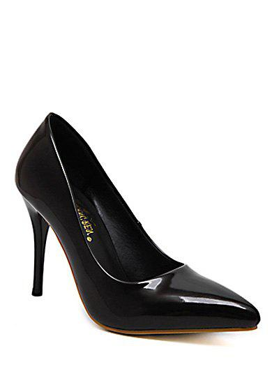 Elegant Stiletto Heel and Patent Leather Design Women's Pumps