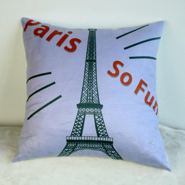 Stylish Paris Journey Eiffel Tower Landmark Pattern Pillow Case - COLORMIX