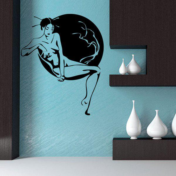 Fashion Women's Art Photo Design DIY Wall Sticker For Bedroom
