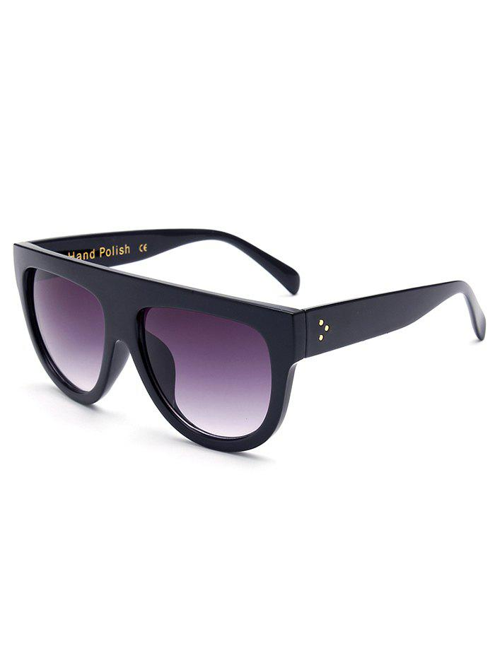 Stylish Simple Full-Rim Black Sunglasses