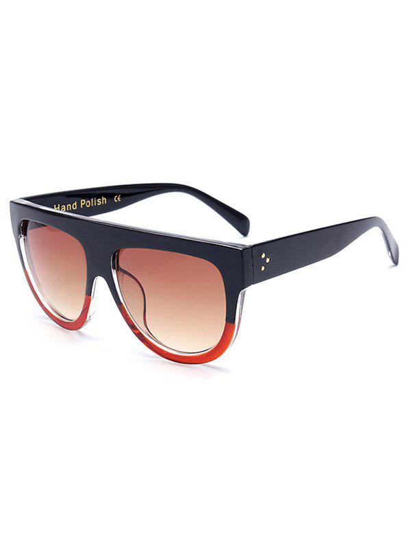 Stylish Simple Two Color Match Sunglasses - RED