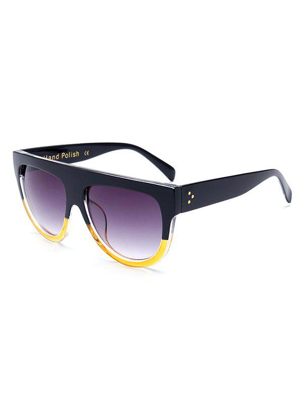 Stylish Simple Two Color Match Sunglasses - YELLOW