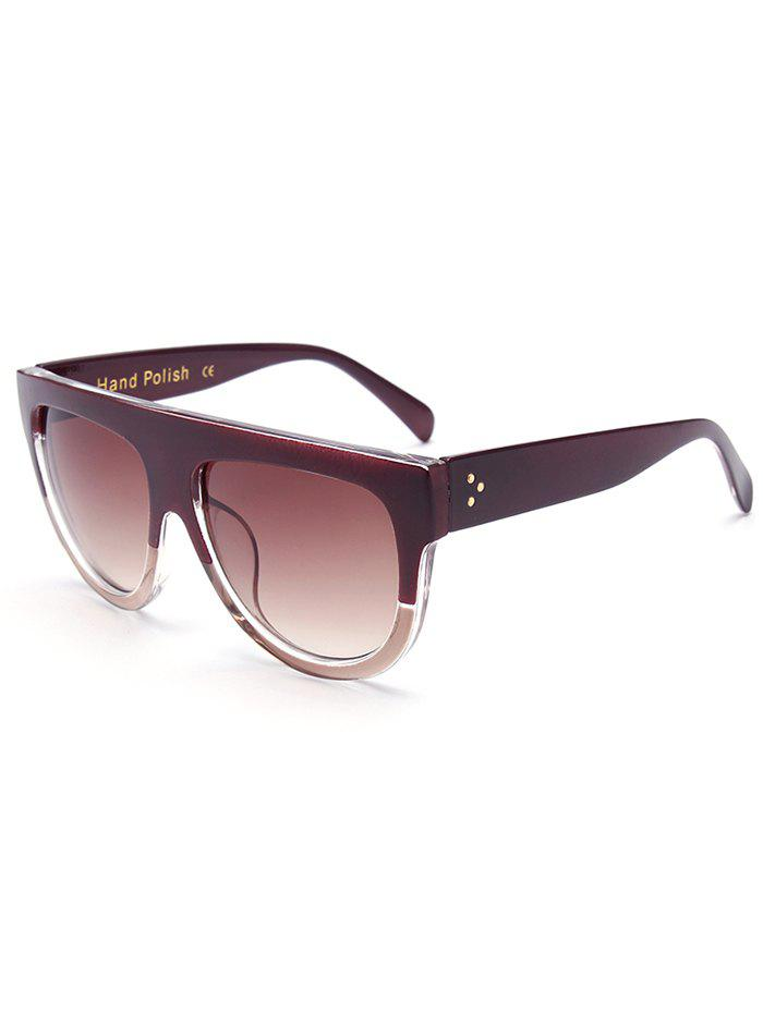 Stylish Simple Two Color Match Sunglasses, TEA COLORED in ...