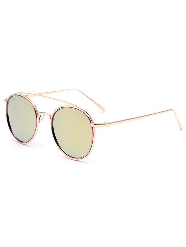 Stylish Crossbar Pink Mirrored Sunglasses - PINK
