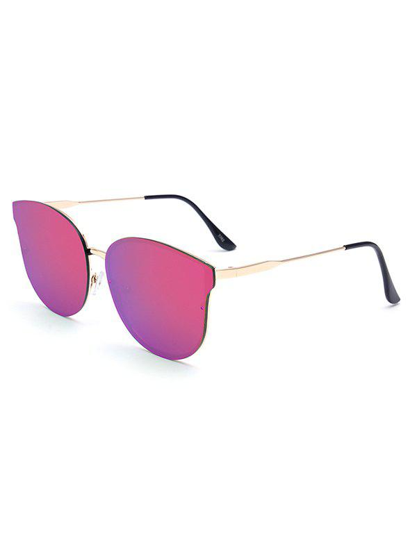 Stylish Black Butterfly Mirrored Sunglasses For Women rapo2 black frozen mirrored gold