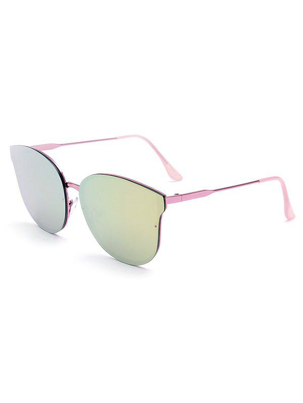 Stylish Pink Butterfly Mirrored Sunglasses For Women - PINK