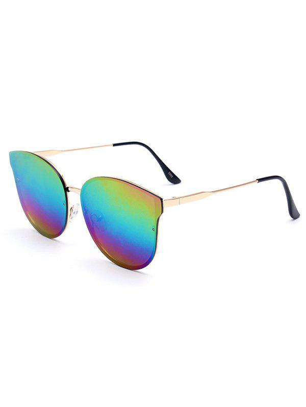 Stylish Colorful Butterfly Mirrored Sunglasses For Women - COLORFUL