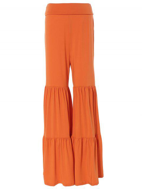 b4042303442 2019 Tiered Ruffled Pants Saumon Foncé M In Pantalons Online Store ...