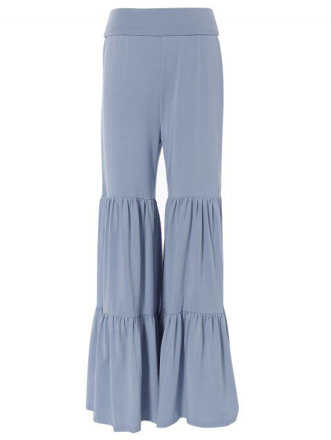 8b11482a214 2019 Tiered Ruffled Pants Gris S In Pantalons Online Store. Best For ...