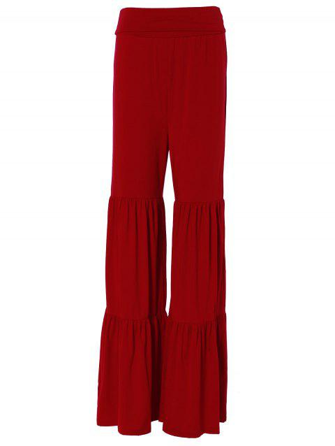 b5558267e8d 2019 Tiered Ruffled Pants Rouge XS In Pantalons Online Store. Best ...