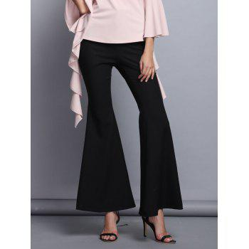 Vintage High Waist Solid Color Trumpet Pants For Women
