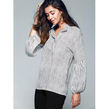 Lanterne manches Pinstriped Blouse - Rayure XL
