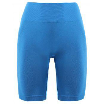 Skinny Sports Running Shorts - AZURE S