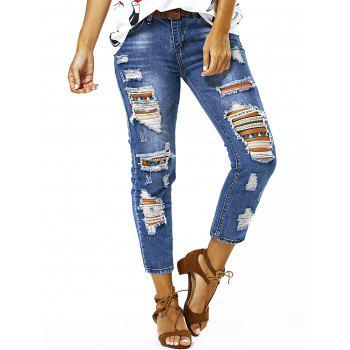 Buy Bleach Wash Ripped Jeans BLUE