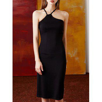 Halter Solid Color Convertible Sheath Dress