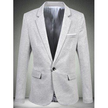Trendy Single Button Opening Notch Lapels Casual Blazer For Men