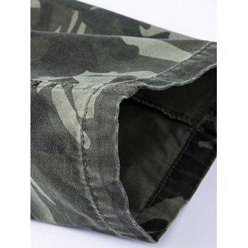 Camo Pattern Multi Pockets Men's Cargo Pants - GRAY 40