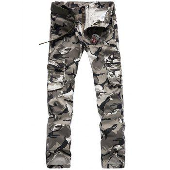 Camo Pattern Multi Pockets Men's Cargo Pants