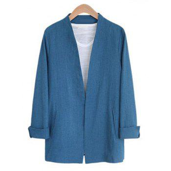 Open Front Collarless Jacket