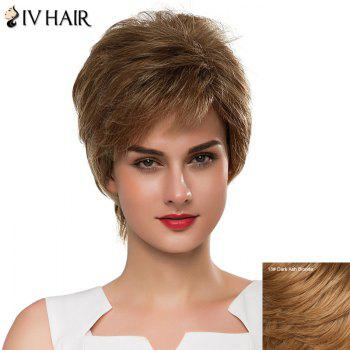 Vogue Capless Short Fluffy Side Bang Women's Siv Human Hair Wig