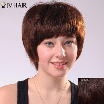 Sweet Short Full Bang Women's Siv Human Hair Wig