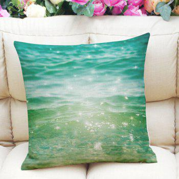 Sweet Home Decor Square  Shiny Ocean Pattern Pillow Case
