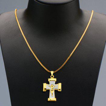 Delicate Crucifix Shape Pendant Necklace For Men