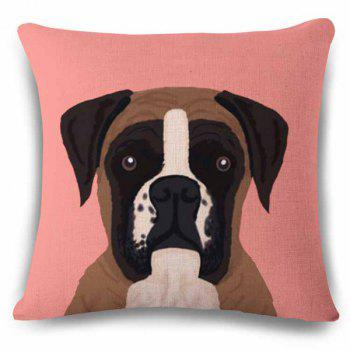 Hot Sale Home Decor Flax Square Puppy Pattern Pillow Case
