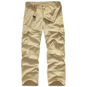 Loose-Fitting Snap Button Pocket Men's Cargo Pants