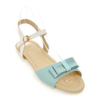 Leisure Bowknot and Color Splicing Design Women's Sandals