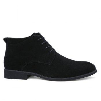 Fashionable Suede and Tie Up Design Men's Casual Shoes - BLACK 43
