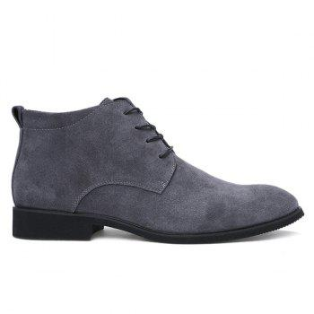 Fashionable Suede and Tie Up Design Men's Casual Shoes - GRAY 43