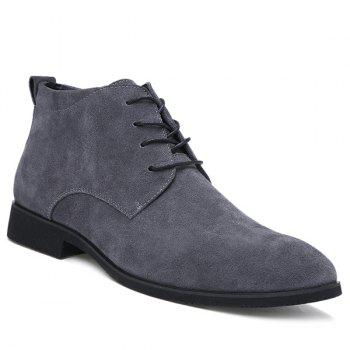 Fashionable Suede and Tie Up Design Men's Casual Shoes