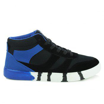Stylish Tie Up and Splicing Design Men's Casual Shoes - BLUE/BLACK 43