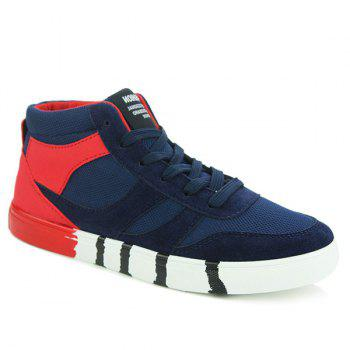 Stylish Tie Up and Splicing Design Men's Casual Shoes