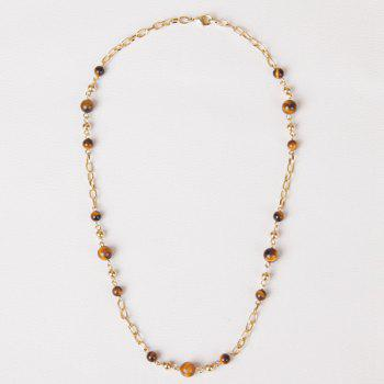 Vintage Faux Agate Bead Necklace For Women